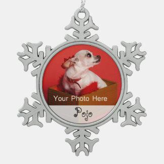 Navidad de la foto del mascota adorno