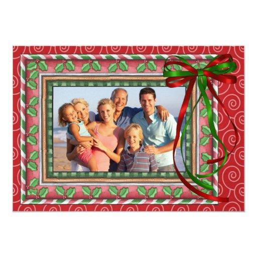 """Navidad de la foto - SRF Invitación 5"""" X 7"""""""
