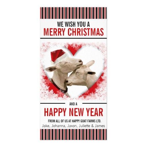 Navidad de la granja de la afición o de la cabra tarjetas personales