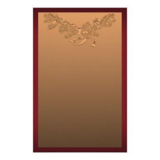 Navidad de la guirnalda del rojo y del oro papeleria de diseño