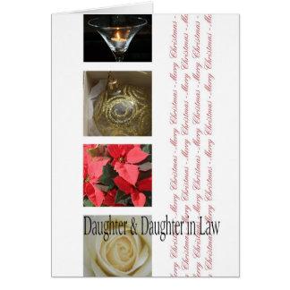 Navidad de la hija y de la nuera tarjeta de felicitación