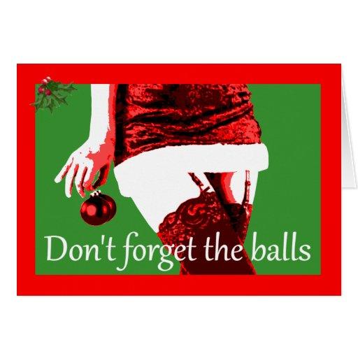 Navidad de la insinuacíon tarjeta de felicitación