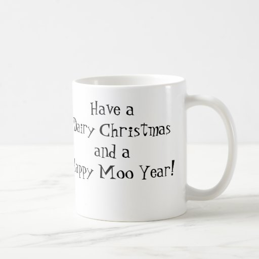 ¡Navidad de la lechería! Taza