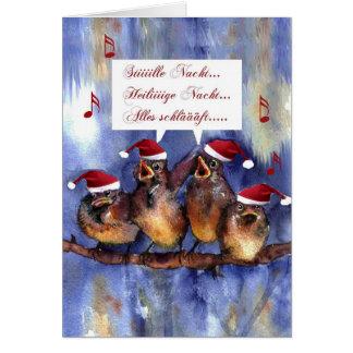 navidad de la lengua alemana de Nacht Weihnachten  Tarjetón