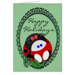Navidad de la mariquita felicitacion
