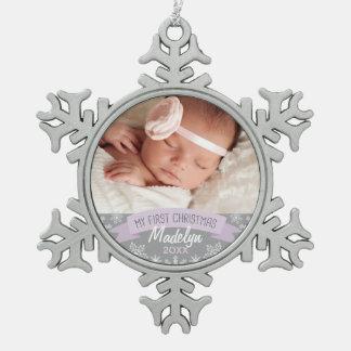 Navidad de la niña del ornamento el | de la foto adorno