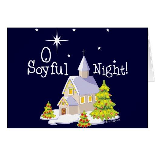 Navidad de la noche de O Soyful Felicitacion