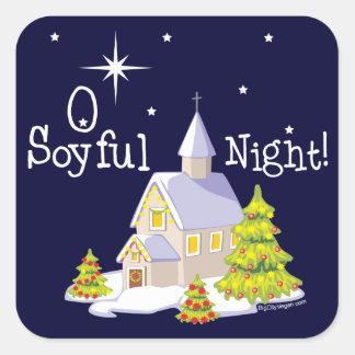 Navidad de la noche de O Soyful Pegatinas Cuadradases