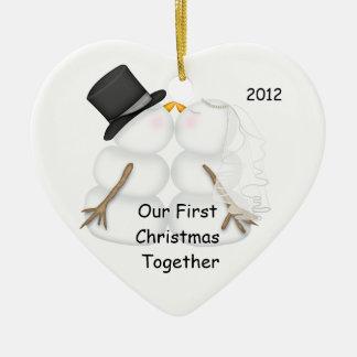 Navidad de la NOVIA y del NOVIO del muñeco de Adorno De Navidad