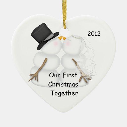 Navidad de la NOVIA y del NOVIO del muñeco de Adorno De Cerámica En Forma De Corazón
