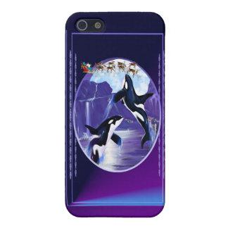 Navidad de la orca iPhone 5 fundas