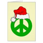 Navidad de la paz felicitacion