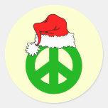 Navidad de la paz pegatinas redondas