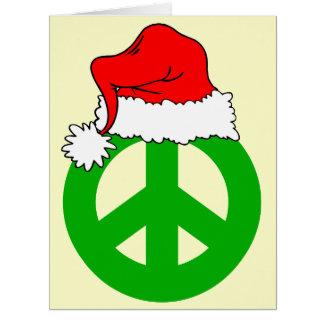 Navidad de la paz tarjeton