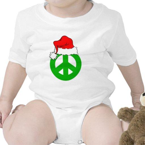 Navidad de la paz trajes de bebé