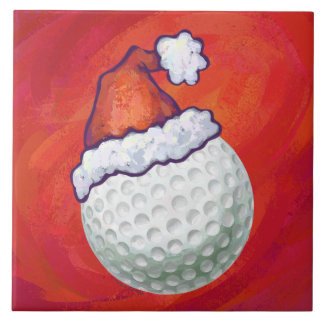 Navidad de la pelota de golf azulejos ceramicos