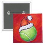 Navidad de la pelota de tenis pin cuadrado