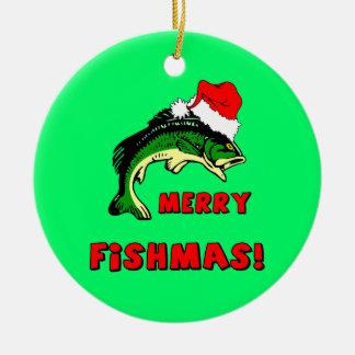 navidad de la pesca ornamento para reyes magos
