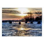 Navidad de la pesca del hielo tarjeta de felicitación