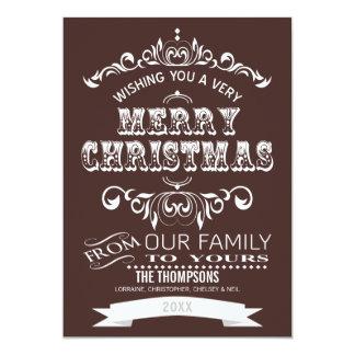 Navidad de la pizarra del vintage que saluda el comunicado personal