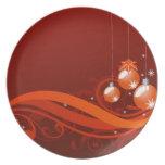 Navidad de la placa platos para fiestas