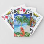 Navidad de la playa baraja de cartas