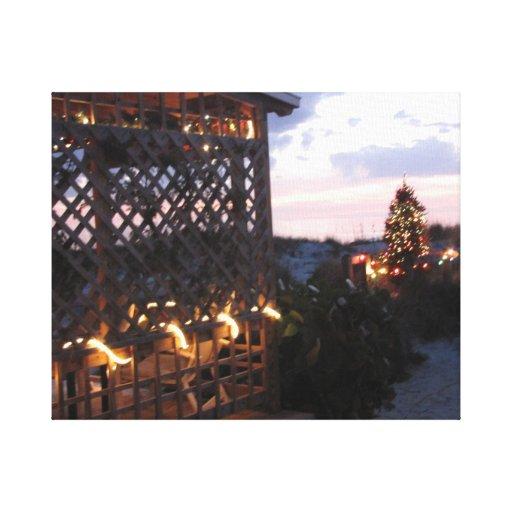 Navidad de la playa de la Florida - playa india de Lona Estirada Galerías