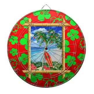 Navidad de la playa tablero de dardos