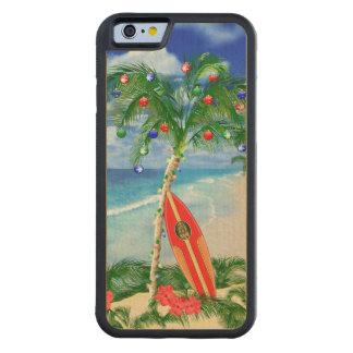 Navidad de la playa funda de iPhone 6 bumper arce