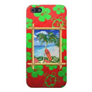 Navidad de la playa iPhone 5 cárcasa