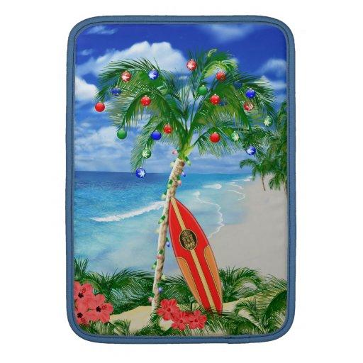 Navidad de la playa fundas MacBook
