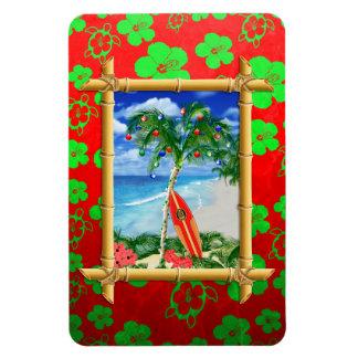 Navidad de la playa imán de vinilo