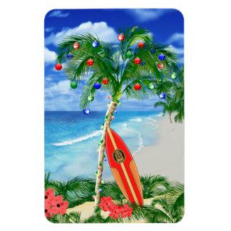 Navidad de la playa imán