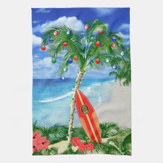 Navidad de la playa toalla