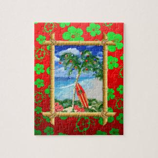 Navidad de la playa rompecabezas