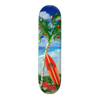 Navidad de la playa skateboard