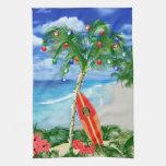 Navidad de la playa toallas