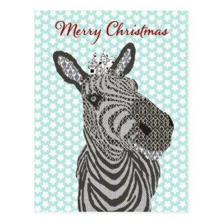 Navidad de la postal de la estrella azul de la ceb