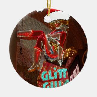 Navidad de la quebrada del brillo de Las Vegas Ornamento Para Reyes Magos