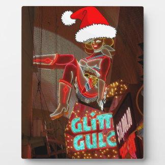 Navidad de la quebrada del brillo de Las Vegas Placas Con Fotos