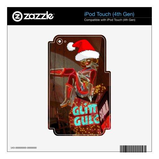 Navidad de la quebrada del brillo de Las Vegas iPod Touch 4G Skins