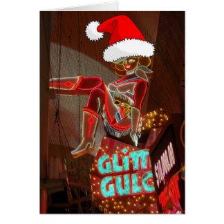 Navidad de la quebrada del brillo de Las Vegas Tarjeta De Felicitación