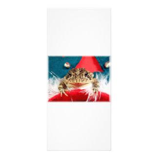 Navidad de la rana, malla, plumas, modelo de santa tarjeta publicitaria personalizada