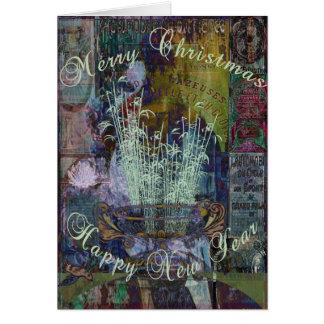 Navidad de la reflexión de la libertad tarjeta de felicitación