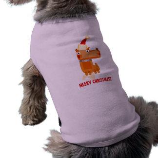 Navidad de la ropa del mascota doggie t shirt