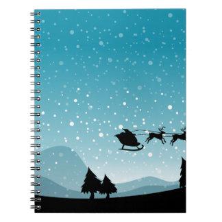 Navidad de la silueta cuadernos