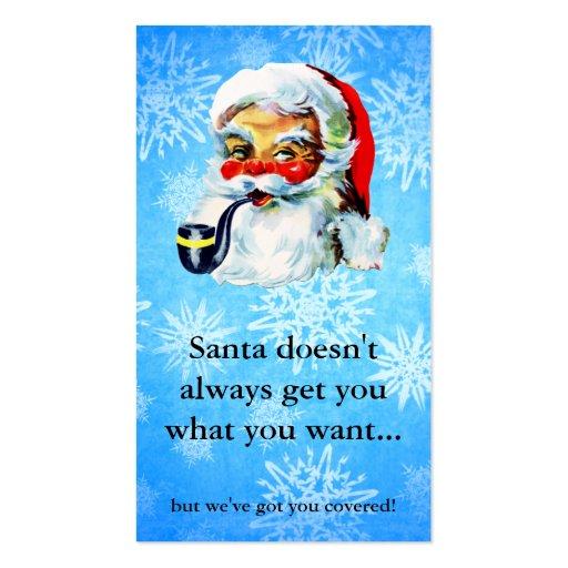Navidad de la tarjeta de regalo de la cupón del tarjetas de visita