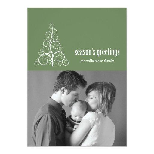 """Navidad de la tarjeta del árbol de navidad de invitación 5"""" x 7"""""""