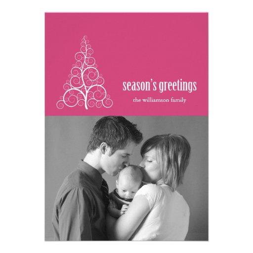 Navidad de la tarjeta del árbol de navidad de Swir Comunicados Personalizados