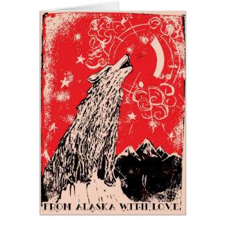 Navidad de la terapia de la luz roja tarjeta de felicitación